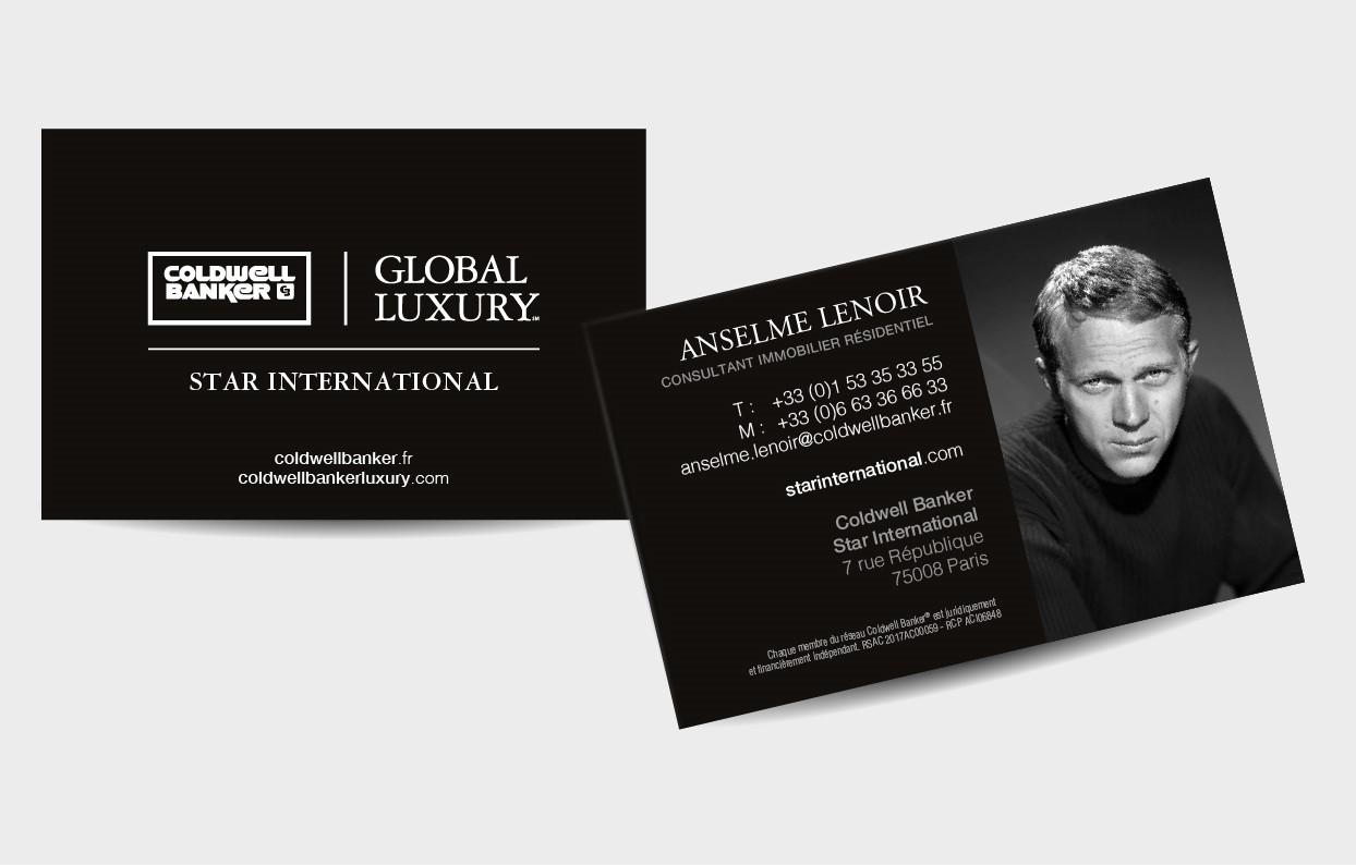 Carte De Visite Agent Immobilier Global Luxury